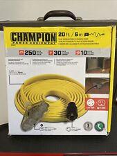 Champion Power Equipment Flat Generator Extension Cord 20 Ft 30 Amp 125v250v