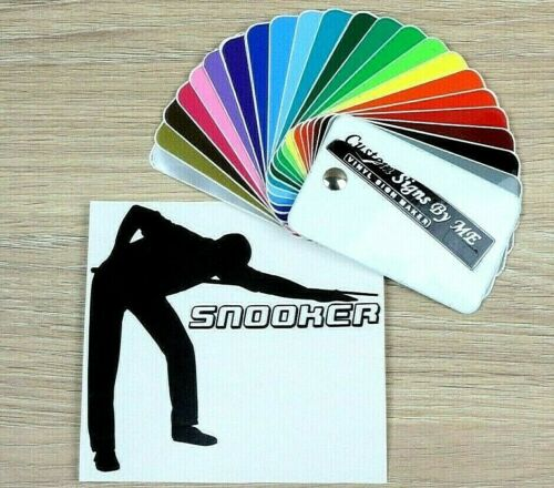 Snooker Pool Billiard Sticker Vinyl Decal Adhesive For Car Wall Laptop #1 BLACK