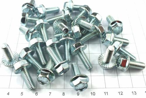 50 St M6 x 16 mm Flansch Sperrzahn 8.8 DIN 6921 SW 10 mm Lagerauflösung S317-50