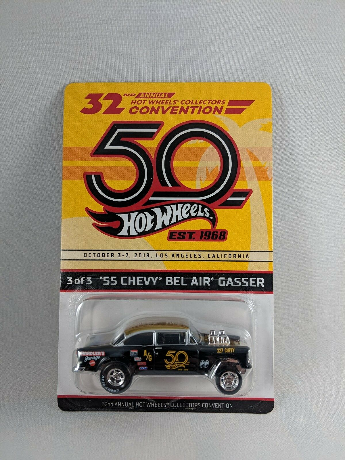 2018 Hot wheels 32nd convention convention convention '55 Chevy Bel Air Gasser 9afeed
