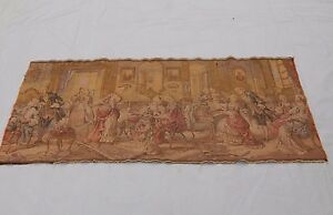 Vintage French Beautiful Party Scene Tapestry 47x106cm T720