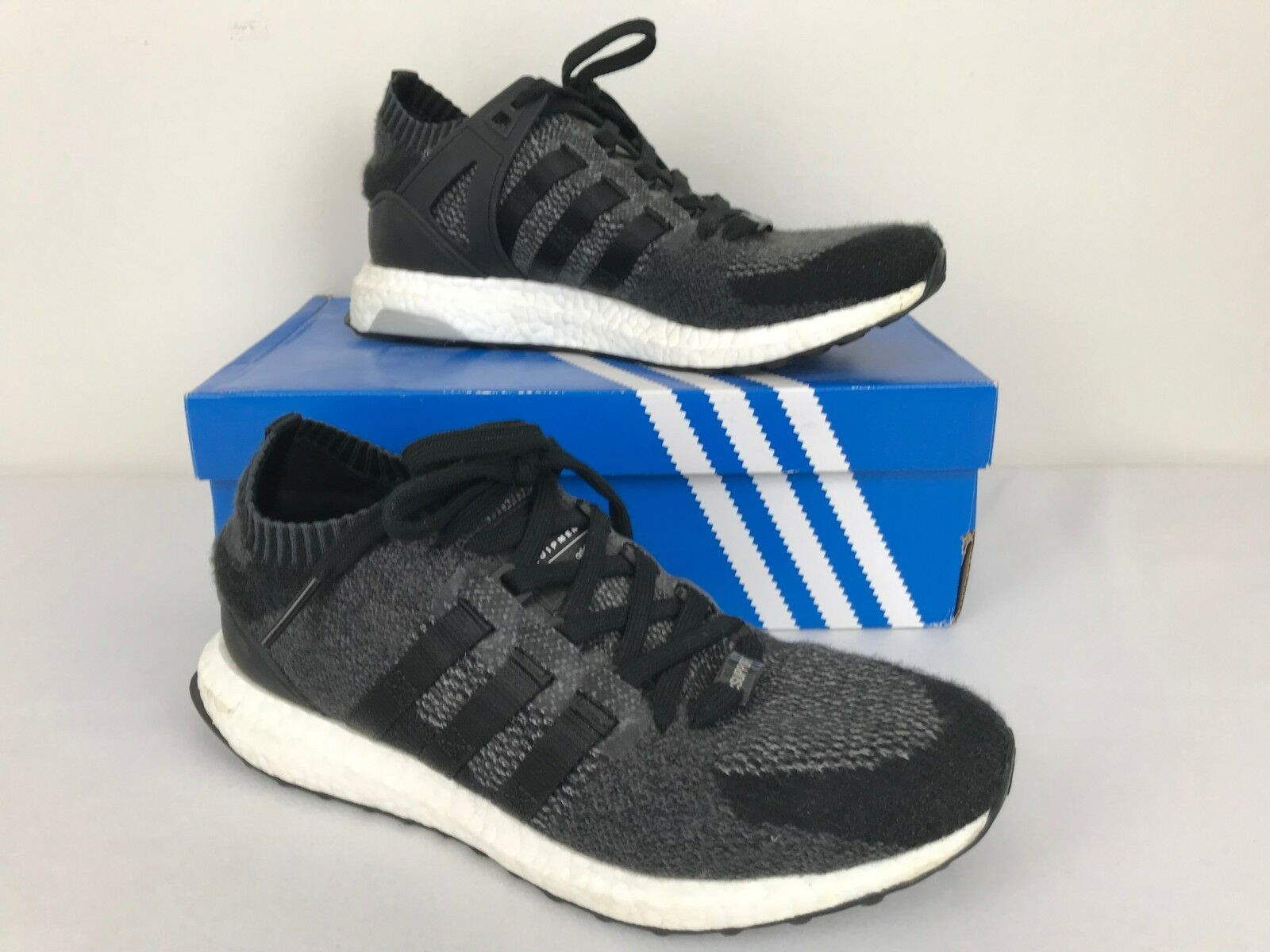 85af5244a ADIDAS EQT SUPPORT ULTRABOOST ULTRABOOST ULTRABOOST RUNNING SHOES MEN SZ 9  BLACK WHITE 4a65b8