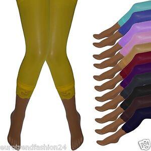 neu damen capri leggings hose leggins mit spitze. Black Bedroom Furniture Sets. Home Design Ideas