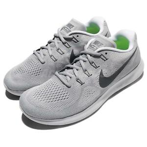 fa83779a72e3f Nike Free RN 2017 Run Mens Running Shoes Sneakers Trainers Wolf Grey ...