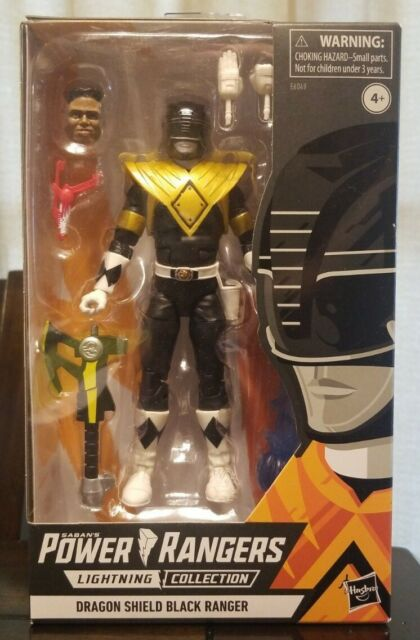 Power Rangers Lightning Collection: DRAGON SHIELD BLACK RANGER Action Figure