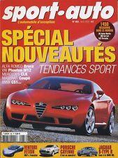 SPORT AUTO n°483 Avril 2002*ALFA ROMEO BRERA VW PHAETON