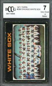1971 topps #289 CHICAGO WHITE SOX team card BGS BCCG 7