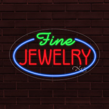 Brand New Fine Jewelry Withborder Oval 30x17x1 Inch Led Flex Indoor Sign 34623