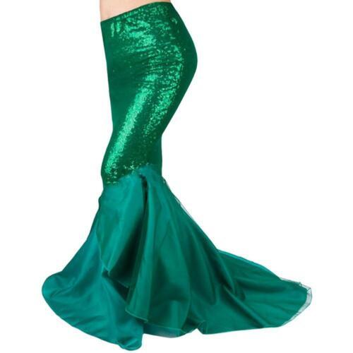 Damen Meerjungfrau Schwanz Volle Rock Party Maxi Fancy Dress Cosplay Kostüm Fast