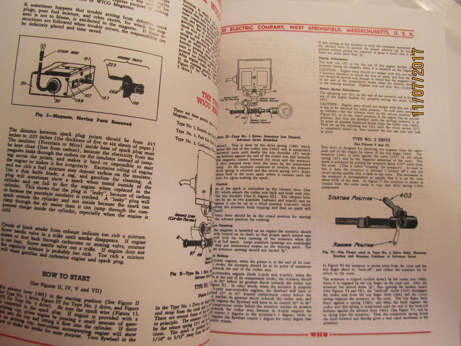 Color 1929 Wico Ek Magneto Service Parts Manual Hit Miss Engines Wiring Schematic