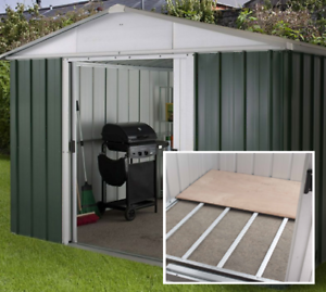 10x10 Metal Garden Sheds Floor Frame Yardmaster Shed 10ft