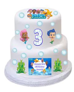 Image Is Loading BUBBLE GUPPIES Edible DIY CAKE KIT Birthday