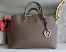 Michael Kors Sutton Dark Dune Grey Taupe Satchel Hand Bag