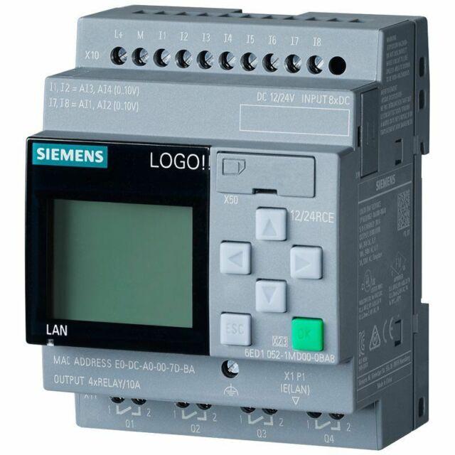 6ED1052-1MD08-0BA0 Siemens LOGO! 12/24RC, PLC, 12/24V DC/Relais, 8 Di (4AI)/4 NE