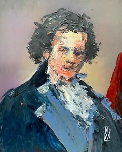 Abstract Portrait Beethoven Classical Music Composer Wall Art Original Painting