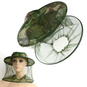 Insect Mosquito Net Mesh Face Fishing Hunting Outdoor Camping Hat Protector Cap Outdoor Tools Sports & Entertainment