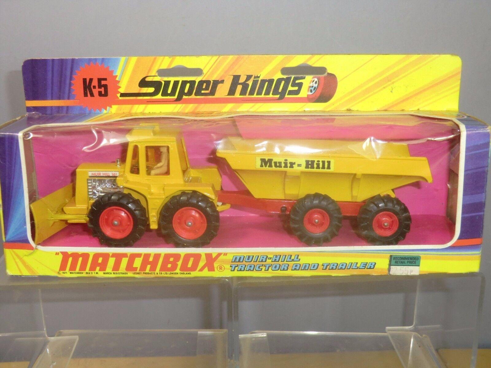 Matchbox súper King Modelo K-5  Muir Hill Tractor & Remolque MIB