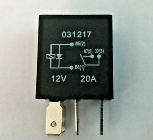 Micro relais 4 broches 24 V 20 A Normalement Ouvert Mini 20 Amp avec diode Voiture Van Marine