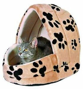 Trixie-Dog-Bed-Charly-Beige-Cave-Igloo-For-Cats-Kittens-Dogs-Puppies