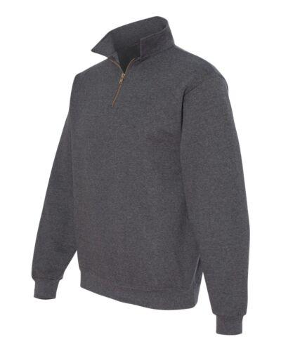 JERZEES Mens S M L XL 2XL 3XL Nu Blend 1//4 Zip Heavy Sweatshirt Jumper Top 4528m