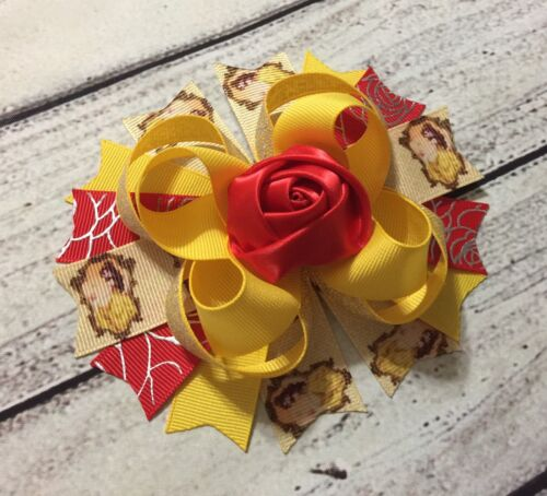 Handmade Belle //Beauty /&The Beast Boutique Stacked Hair Bow