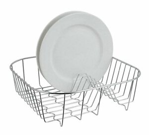Image is loading Small-Chrome-Plated-Wire-Dish-Holder-Sink-Plate-  sc 1 st  eBay & Small Chrome Plated Wire Dish Holder Sink Plate Cup Rack Drying ...