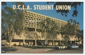 UCLA-Student-Union-Los-Angeles-PLASTICHROME-1960s-Cars-Cadillac-Unused-PC