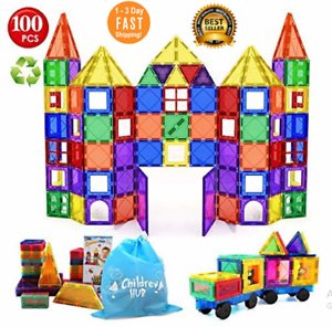 NEW Magna-Tiles Clear Colors 46 Pcs 3D Set Magnetic Building Toy Math Science 3+