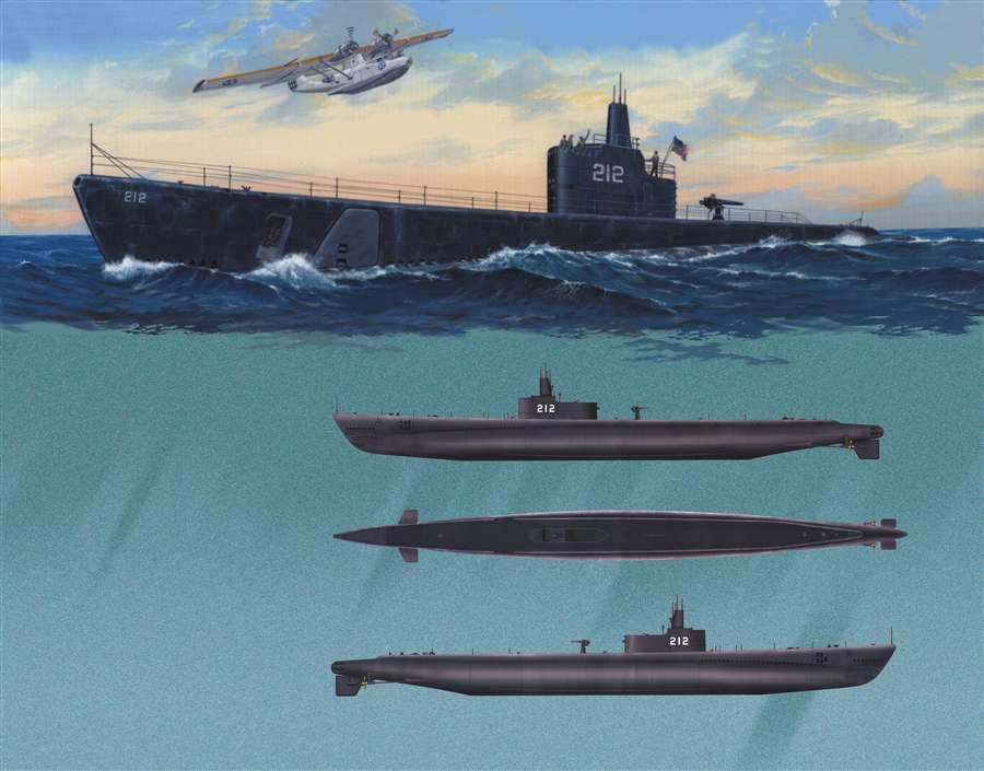 05905 Trumpeter 1 144 Model USS GATO SS-212 1941 Submarine Combat Ship Warship
