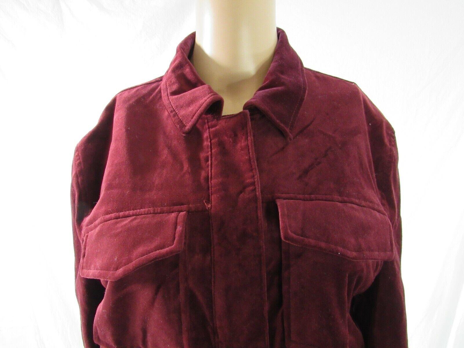 BB Dakota Red Velvet Jacket Blazer Size Large - image 7