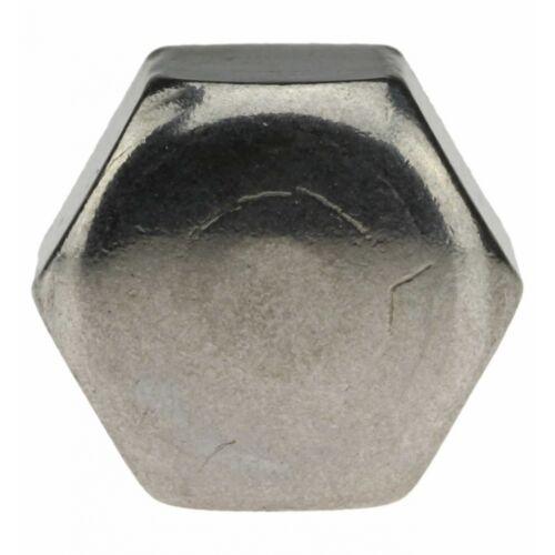 10x DIN 917 Sechskant-Hutmutter Form A4 blank M 6 niedr