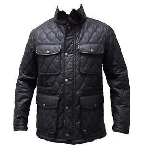 Coach 83740 Men's Waxed Quilted Wyatt Field Jacket Utility Coat Dark Brown
