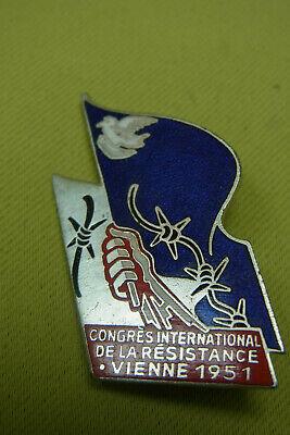 Frankreich Abzeichen - Congrès International De La Résistance Vienne 1951