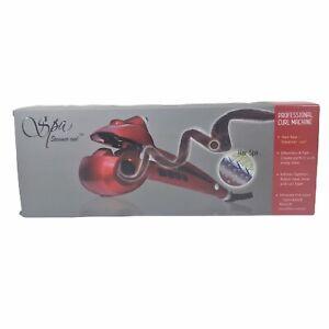 Spa-Steamer-Curl-Ceramic-Professional-Curling-Iron-Machine-Red