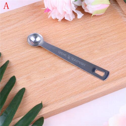 Stainless Steel Measuring Spoon Tea Coffee Measure Tools Kitchen Scale JB