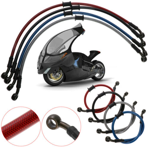 Motorcycle Dirt Bike Braided Steel Hydraulic Reinforce Brake line Oil Hose Tube