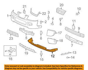 saturn gm oem 06 07 vue front bumper grille air deflector 15145505 rh ebay com 2003 Saturn Vue Parts Diagram 2007 Saturn Vue Body Parts