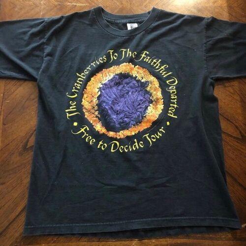 1996 the cranberries free to decide tour shirt gem