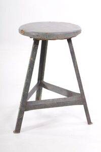 Beautiful-Age-Stool-Art-Deco-Workshop-Stools-Vintage-Bauhaus-Design-Chair