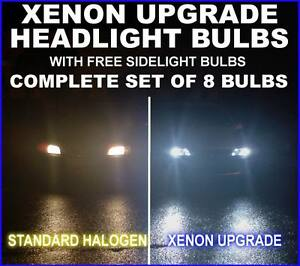 H1 HB4 501 100w Clear Xenon HID High//Low//Side Light Beam Bulbs Kit