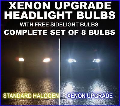 H1 XENON HEADLIGHT BLUE BULBS MITSUBISHI GRANDIS