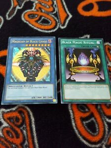 Yugioh-Magician-of-Black-Chaos-plus-ritual-card-1st-edition-ultra-rare-YGLD