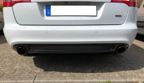 Audi A4 A5 A6 Endrohre aus Edelstahl in Chrome Auspuffblenden Sport Auspuff