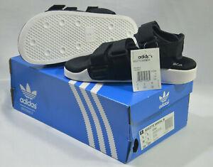 New-Adidas-Originals-Womens-ADILETTE-SANDAL-W-S75382-BLACK-WHITE-US-6-UK-5-SLIDE