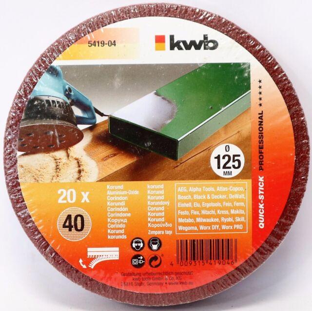5-er Quick-Stick Schleifscheiben gelocht Schleifpapier Klett Schleifen 150 mm