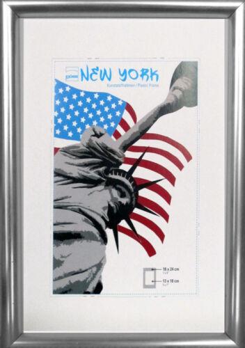 Rahmen Echtglas Style Nw York ab 9x13 cm verschiedene Farben Bilderrahmen Kst