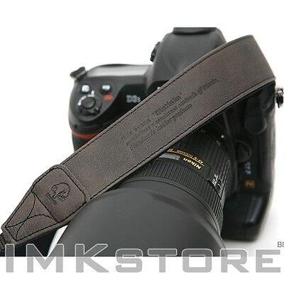NEW MATIN Vintage-38 BLACK DSLR SLR Camera Neck Shoulder Leather Strap