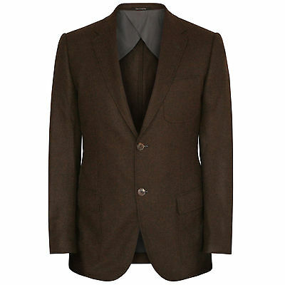 GUCCI $2,500 brown cashmere slim sportcoat fitted blazer jacket 38/48 7R NEW