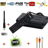 Hd Audio Dvb-s2 Digital Satellite Tv Receiver + Iptv Combo Youtube + Usb Wifi
