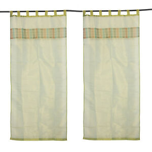 Details About Indian Luxury Curtains Silk Living Room Door Panels Valances